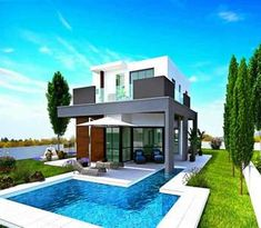 This modern luxury house for sale in Larnaca (Cyprus) is located in the village of Oroklini and it has easy access to the sandy beach. Unique Properties For Sale, Modern Properties, Luxury Property For Sale, Luxury Houses, Apartments For Sale, Modern Luxury, Cyprus, Luxury Real Estate, Home Buying