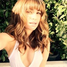 When she got bangs.   31 Times Lea Michele Was The Most Flawless Lady Ever
