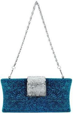 Glamorous Glitter Hard Case Evening Clutch Baguette Handbag Purse Rhinestone Closure w/Detachable Chain: http://www.amazon.com/Glamorous-Glitter-Baguette-Rhinestone-Detachable/dp/B004D09G6W/?tag=thewedspesit-20