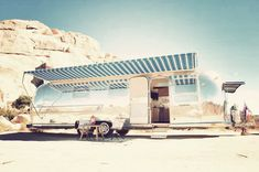 Airstream with Open Canopy Side View - Joshua