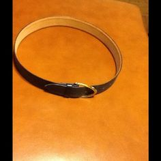 Coach Denim color Leather Belt Slightly used but in very good condition Coach Accessories Belts