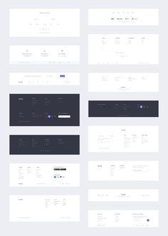 E-Commerce UI Kit - Dlex Website Design Layout, Web Layout, Layout Design, Website Designs, Design Websites, Web Design Projects, Footer Web, Website Footer, Wireframe Design