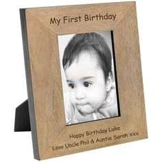 Engraved My First Birthday Wood Photo Frame - 6x4  from Personalised Gifts Shop - ONLY £16.95