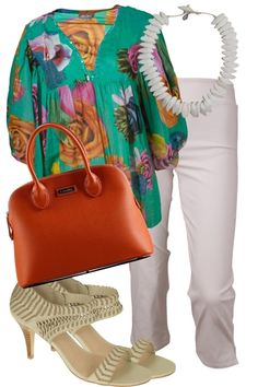 treat yourself to this fabulos outfit inspired by  the colours of a tropical island. perfect for going out for lunch or catching a movie