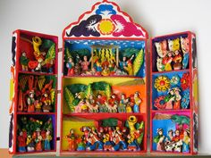 Isaiah Zagar was first exposed to folk art in Peru in the 1960s. He's loved global folk art ever since.  Retablo Ayacuchano.