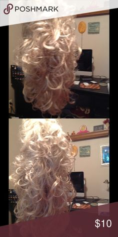 Full head curly wig Full head of curls.  Brand new. Never worn. Tags removed.  Kept in plastic.  Can be worn over your own hair or use for Halloween paula young Accessories Hair Accessories