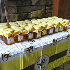 Bumble Bee Baby Shower Centerpieces