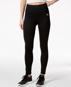 adidas gives you another proven Performer: Body-hugging compression fit and ClimaLite comfort in high-rise leggings. | Polyester/elastane | Machine washable | Imported | High rise | Skinny fit through