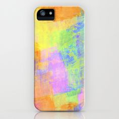 Iphone cases colorful abstract. Pastel Brush Strokes by Tjc555