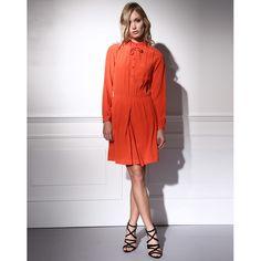 Robe 100% soie Les Petites, cliquez sur l'image pour shopper #bazarchic #les #petites #lespetites #robe #dress #soie #fashion #mode #fashionweek #rouille #orange