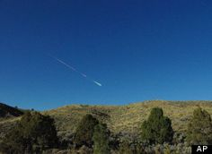 Space meteor scatters over California and Nevada. Sonic boom.