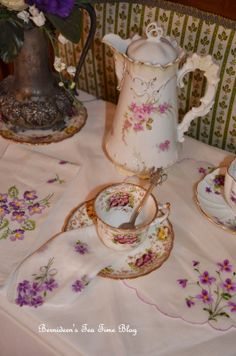 "Bernideen's Tea Time Blog: THE VIOLETS WILL BE THE FIRST TO APPEAR for ""Friends Sharing Tea"""
