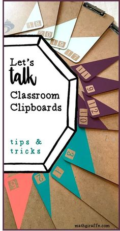 A class set of clipboards is one of the most underrated teaching tools out there I want to share some of the ways to use them if you have them, and encourage you to get a set if you do not! These are is part of Classroom - Middle School Classroom, Classroom Setting, Classroom Setup, Classroom Design, Future Classroom, Diy Classroom Decorations, Classroom Arrangement, High School, Teacher Organization