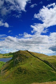 Hadrian's Wall, UK~~~~  Climbed this one. The view was astounding.