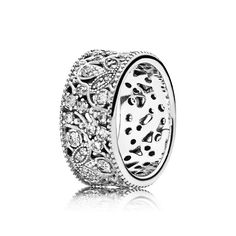 PANDORA | Shimmering Leaves, Clear CZ