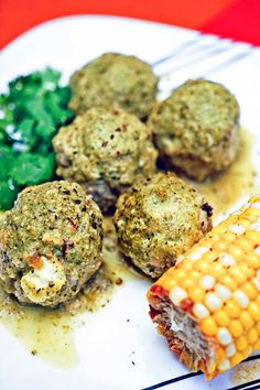 Stuffed Green Chili Meatballs in Tomatillo Sauce - keviniscooking.com