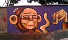 Monkey angel: Gaspar street in Quito