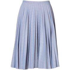 J.W. Anderson Cotton Gingham Midi-Skirt ($205) ❤ liked on Polyvore featuring skirts, bottoms, юбки, multicolor, gingham midi skirt, blue pleated skirt, blue skirt, j.w. anderson and blue midi skirt