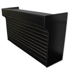 6' Ledgetop Counter with Slatwall Front : [Black]