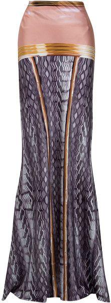 Mary Katrantzou Pen Pot Gown Skirt