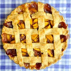 Perfect Peach Pie, baked to perfection.
