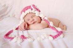 Pink baby...crochet hat...