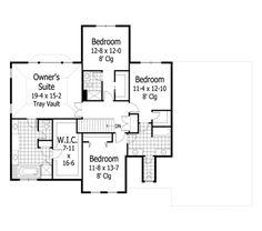 Craftsman Style House Plan - 4 Beds 3.5 Baths 3313 Sq/Ft Plan #51-453 Floor Plan - Upper Floor Plan - Houseplans.com