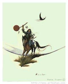 "American Indian Artist Dana Tiger ""Quest For Peace."" Daughter of Jerome Tiger - Creek-Seminole-Cherokee."