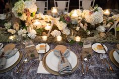 Reception Decor : desiree & seth :Tablescape & Florals by Distracted by Decor : Los Poblanos : New Mexico Wedding Venue