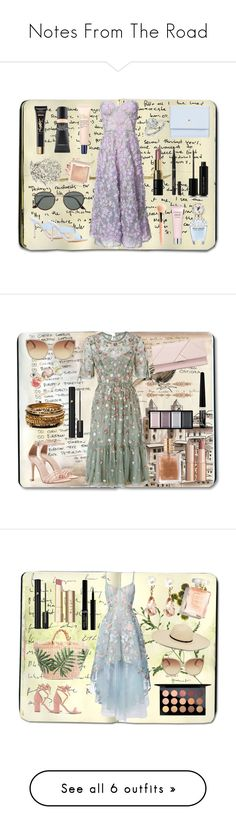 """""""Notes From The Road"""" by cachomy ❤ liked on Polyvore featuring Moleskine, Notte by Marchesa, Kate Spade, ALEXA WAGNER, Marc Jacobs, L'Oréal Paris, Bobbi Brown Cosmetics, Zac Posen, Ray-Ban and Oscar de la Renta"""