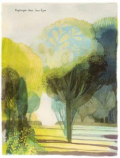 Illustration from Jane, le renard & moi by Isabelle Arsenault