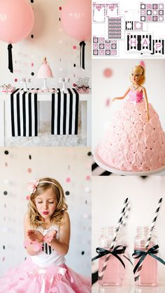 Host a Barbie Birthday Party! Free Printable Party Designs, Decorating Ideas, Activity Ideas + More from The TomKat Studio