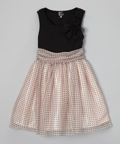 Another great find on Pink & Black Pin Dot Dress - Girls Girls Christmas Dresses, Holiday Dresses, Holiday Outfits, Little Girl Dresses, Girls Dresses, Baby Dresses, Daddy Daughter Dance Dresses, Girl Fashion, Fashion Outfits