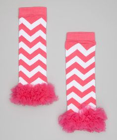{Pink Zigzag Ruffle Leg Warmers by The Princess Pea}