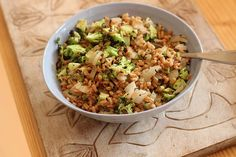 Farro With Grilled Broccoli and Sweet Onions