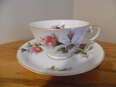 Aladdin Fine China Moss Rose Tea Cup and Saucer made in Japan Last Price Drop!