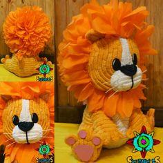 Piñata León Bebé (Animalitos de la Selva) 80cm de alto