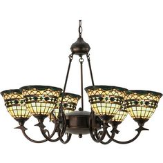 Meyda Tiffany Tiffany Roman 6-Light Shaded Chandelier