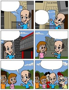 """O """"meme na mão do macaco"""". Preencha como quiser e brinque com Serra em quadrinhos."""