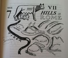 Age 12 ~ Roman History ~ Seven Hills of Rome ~ Map Ancient Rome, Ancient History, Rome Map, Best Cities In Europe, Romulus And Remus, Rome Antique, Sixth Grade, Seventh Grade, Empire Romain