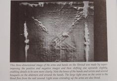 Photograph of the mid-section of the Holy Shroud of Turin