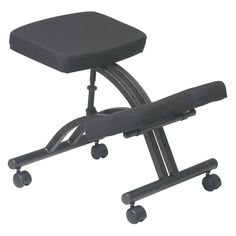 Off Executive Black Ergonomically Designed Knee Chair with Memory Foam by Office Star Products. Black Ergonomically Designed Knee Chair With Memory Foam Office Stool, Cool Office Desk, Desk Stool, Office Chairs, Office Furniture, Desk Chairs, Smart Furniture, High Chairs, Metal Chairs
