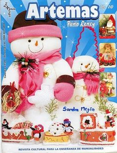 Foto: Christmas Books, Christmas Crafts, Christmas Decorations, Christmas Ornaments, Cross Stitch Books, Cross Stitch Cards, Baby Shawer, Snowman Crafts, Air Dry Clay