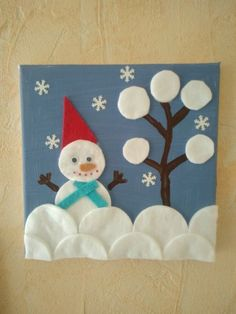 Christmas activities to remove cotton Kids Crafts, Diy Crafts To Do, Christmas Crafts For Kids, Christmas Activities, Christmas Art, Preschool Crafts, Holiday Crafts, Theme Noel, Diy For Kids