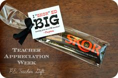 Teacher Appreciation Gift Idea for PE Teacher's and FREE download of tag. Keepingmycents.blogspot.com
