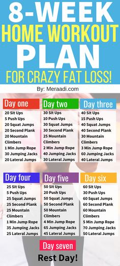 Home Workout Plan For Rapid Fat Loss This 8 week no gym home workout plan is THE BEST! I'm so glad I found this home workout plan to help me get back in shape and burn fat. Definitely pinning this home workout plan that can be used for beginners. Weight Loss Meals, Weight Loss Challenge, Losing Weight Tips, Diet Plans To Lose Weight, Weight Loss Program, Best Weight Loss, How To Lose Weight Fast, Weight Gain, Body Weight
