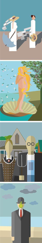 Una colección de láminas de versiones de obras famosos con un estilo muy particular. Unas ilustraciones que decorarán tu hogar con un arte muy peculiar que no dejará indiferente a nadie. #laminas, #cuadras, #decoracion, #regalo, #hogas, #arte