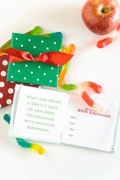 book party invitation diy idea