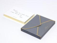 With compliments cards & Envelope. Construct continue to work extensively for British design company Mulberry.