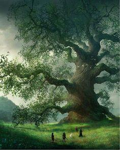 Fantasy Art Watch — Age of Myth by Marc Simonetti Fantasy Artwork, Fantasy Art Landscapes, Fantasy Landscape, Art And Illustration, Art Illustrations, Fantasy Places, Fantasy World, Giant Tree, Art Watch